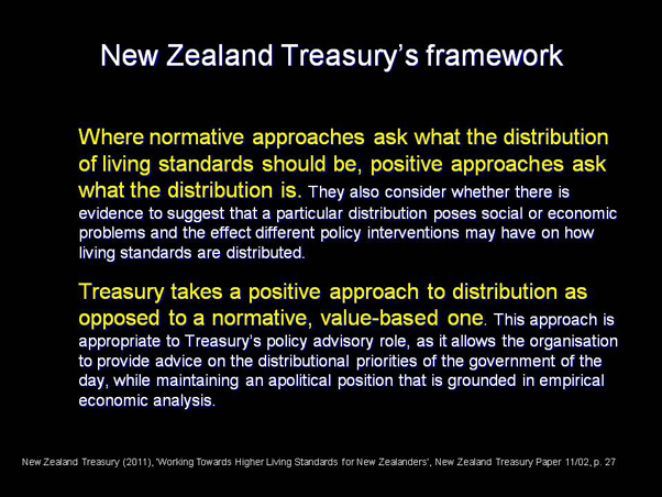 New Zealand Treasury's framework