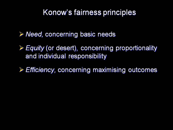 Konow's fairness principles