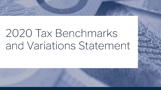 2020 Tax Benchmarks and Variations Statement