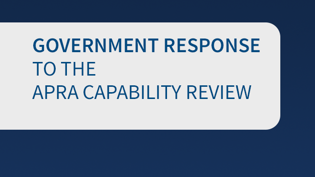 Government response to APRA Capability Review