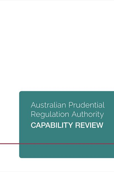 Australian Prudential Regulation Authority (APRA) Capability Review - cover
