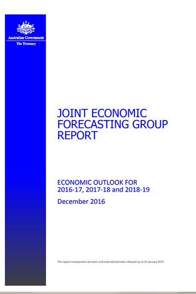 Joint Economic Forecasting Group Report - December 2016