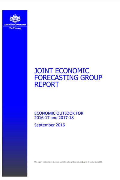 Joint Economic Forecasting Group Report - September 2016
