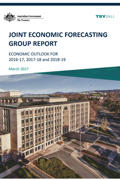 Joint Economic Forecasting Group Report - March 2017 - cover image