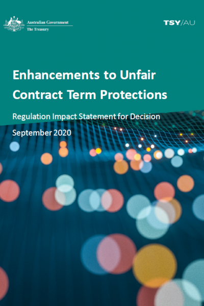 Regulation Impact Statement for Decision - Cover